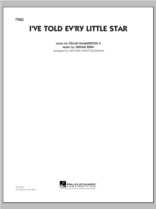 I've Told Ev'ry Little Star - Piano Sheet Music
