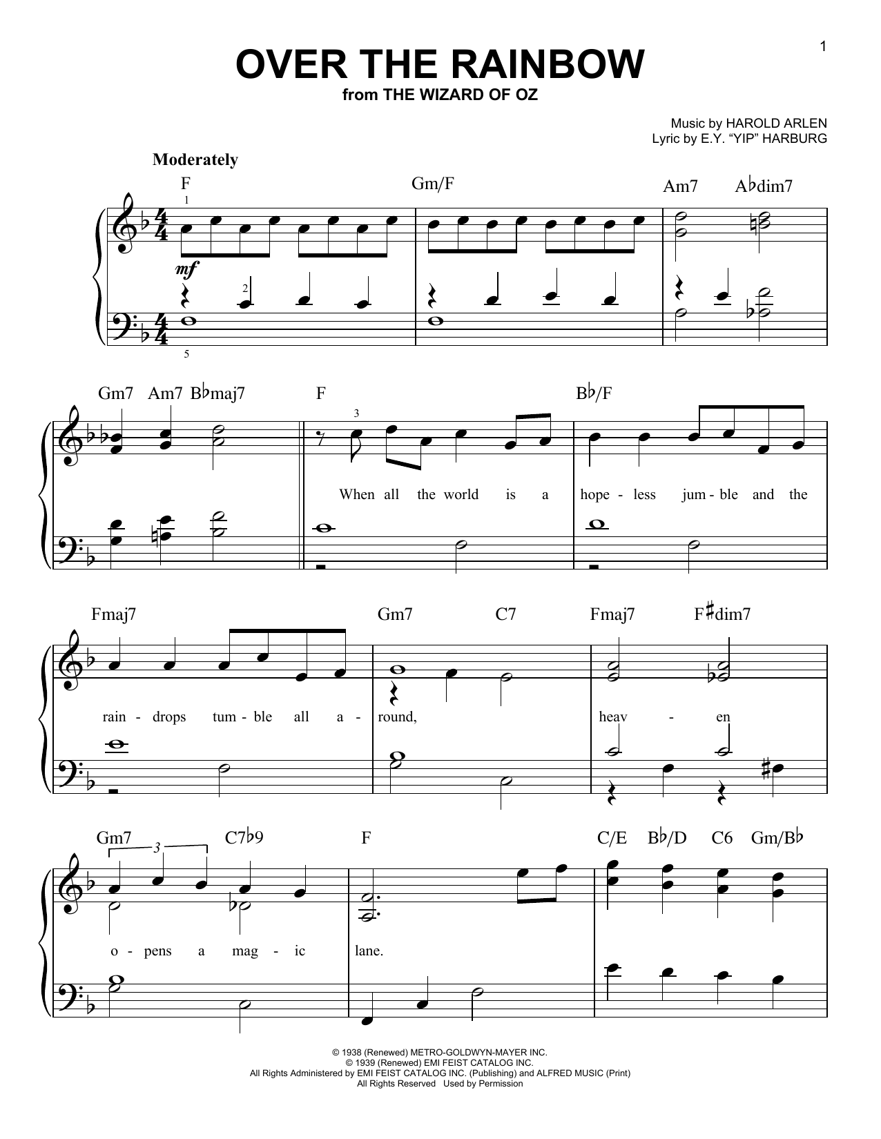Over The Rainbow : Sheet Music Direct