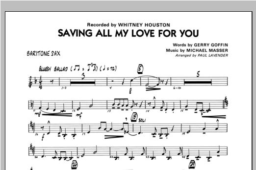 Saving All My Love For You - Baritone Sax Sheet Music