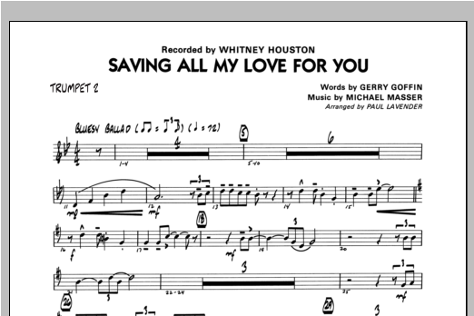Saving All My Love For You - Trumpet 2 Sheet Music