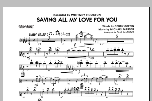 Saving All My Love For You - Trombone 1 Sheet Music