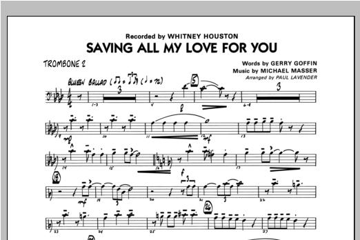 Saving All My Love For You - Trombone 2 Sheet Music