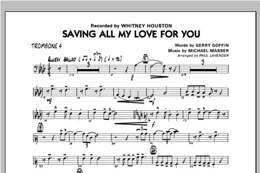 Saving All My Love For You - Trombone 4 Sheet Music