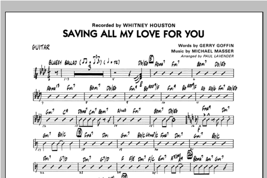 Saving All My Love For You - Guitar (Jazz Ensemble)