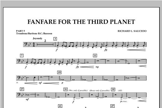 Fanfare For The Third Planet - Pt.5 - Trombone/Bar. B.C./Bsn. (Concert Band: Flex-Band)