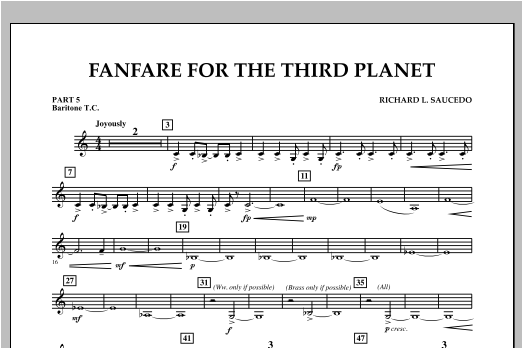 Fanfare For The Third Planet - Pt.5 - Baritone T.C. Sheet Music