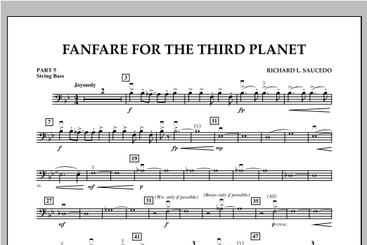 Fanfare For The Third Planet - Pt.5 - String/Electric Bass Sheet Music