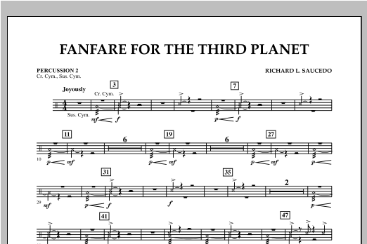 Fanfare For The Third Planet - Percussion 2 Sheet Music