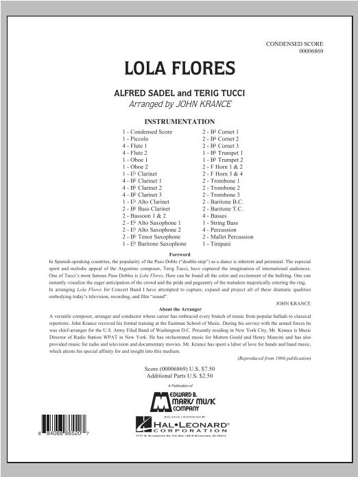 Lola Flores - Full Score Sheet Music