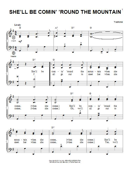 Partition autre She'll Be Comin' 'Round The Mountain de Gary Meisner - Accordeon