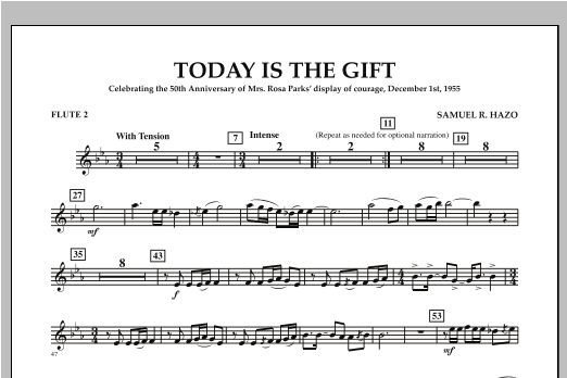 Today Is The Gift - Flute 2 Sheet Music