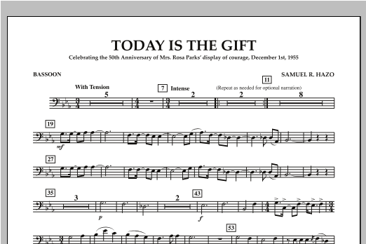 Today Is The Gift - Bassoon Sheet Music