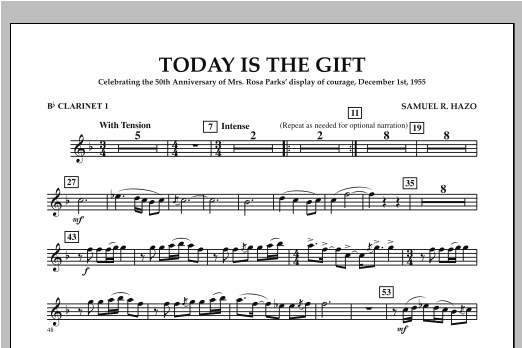 Today Is The Gift - Bb Clarinet 1 Sheet Music
