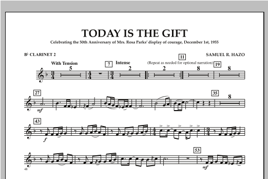 Today Is The Gift - Bb Clarinet 2 Sheet Music