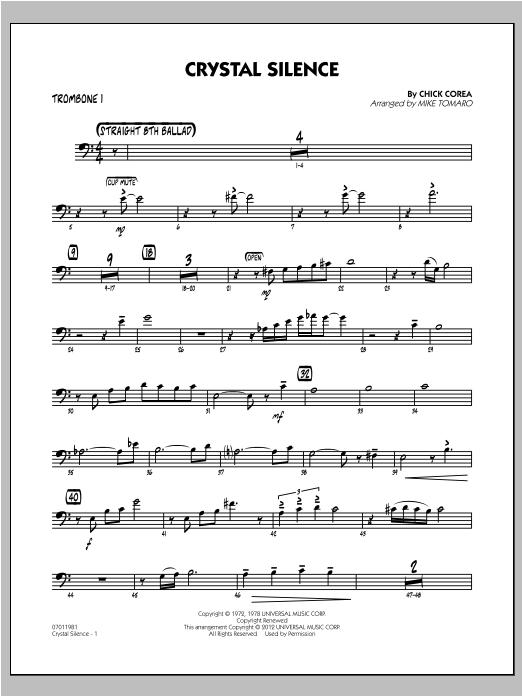 Crystal Silence - Trombone 1 Sheet Music