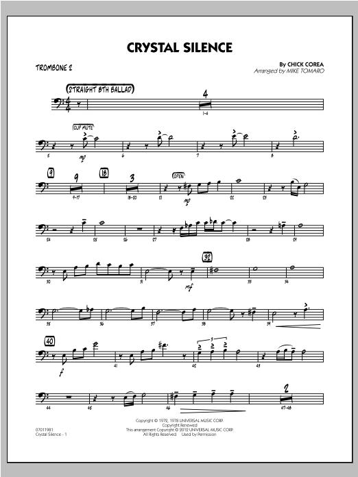 Crystal Silence - Trombone 2 Sheet Music
