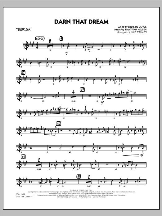 Darn That Dream - Tenor Sax Sheet Music