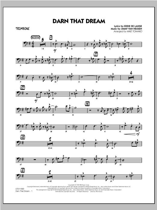 Darn That Dream - Trombone Sheet Music