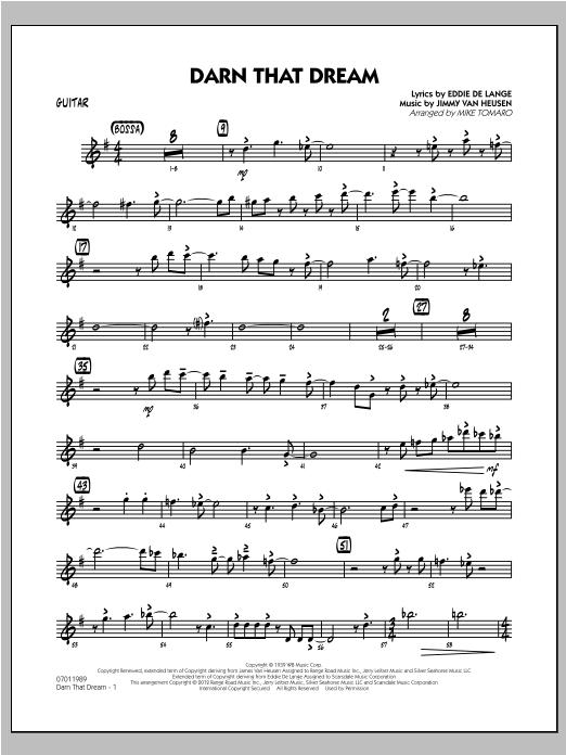 Darn That Dream - Guitar (Jazz Ensemble)