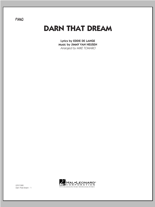 Darn That Dream - Piano Sheet Music