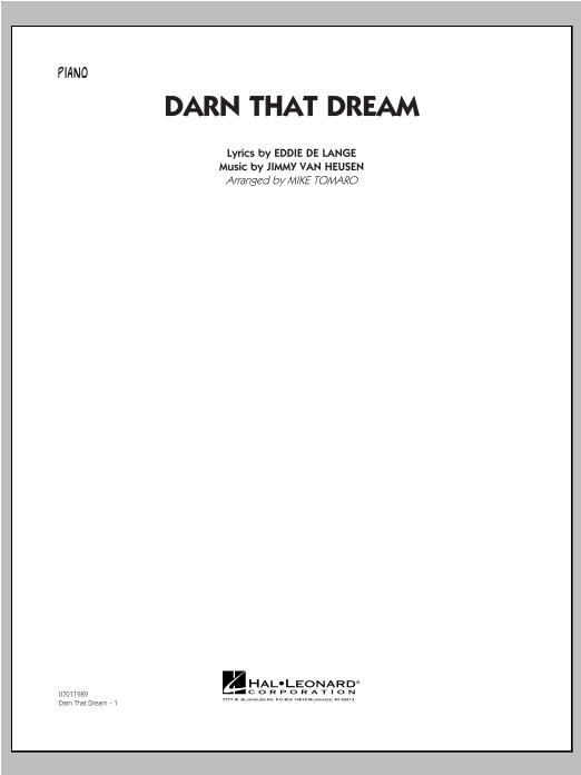 Darn That Dream - Piano (Jazz Ensemble)
