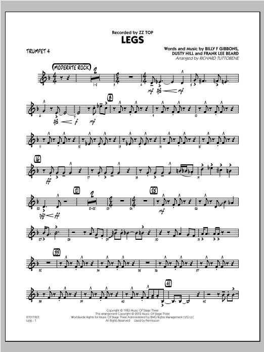Legs - Trumpet 4 Sheet Music