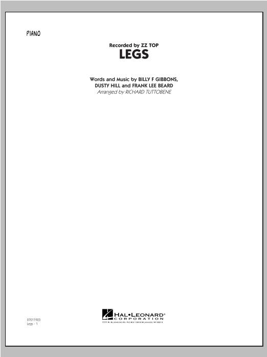 Legs - Piano Sheet Music