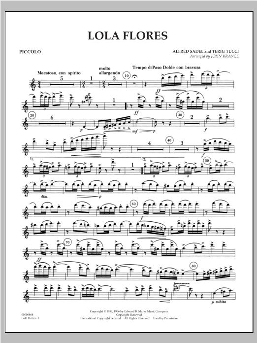 Lola Flores - Piccolo Sheet Music