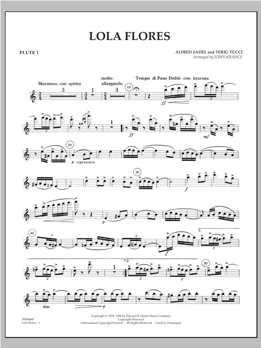 Lola Flores - Flute 1 Sheet Music