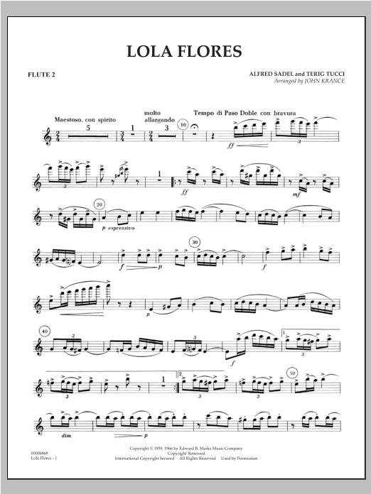 Lola Flores - Flute 2 Sheet Music