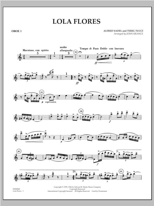Lola Flores - Oboe 1 Sheet Music