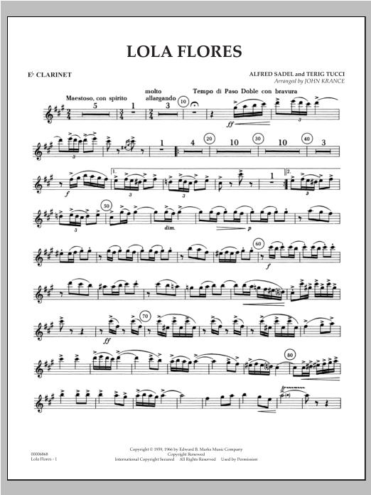 Lola Flores - Eb Clarinet Sheet Music