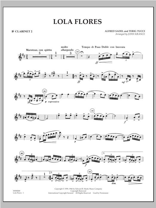 Lola Flores - Bb Clarinet 2 Sheet Music