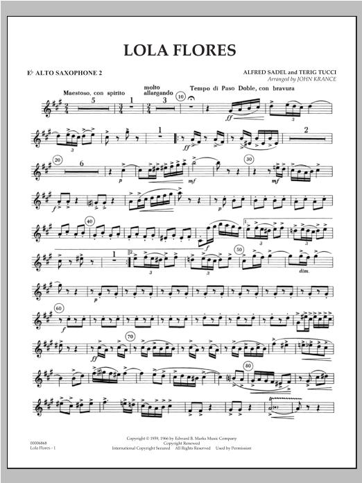 Lola Flores - Eb Alto Saxophone 2 Sheet Music