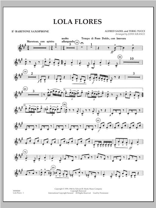 Lola Flores - Eb Baritone Saxophone Sheet Music