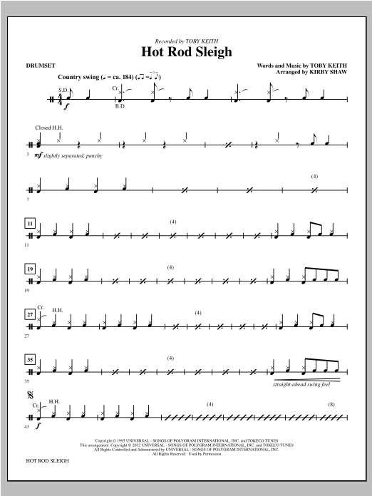 Hot Rod Sleigh - Drums Sheet Music