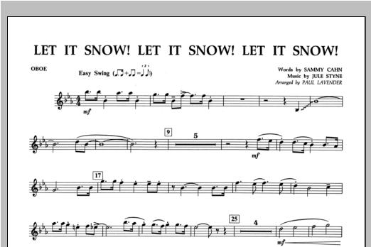 Let It Snow! Let It Snow! Let It Snow! - Oboe Sheet Music