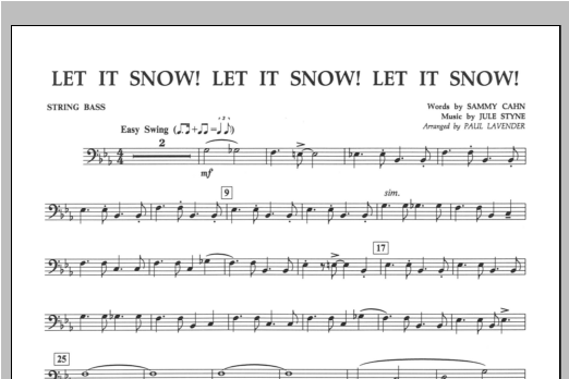 Let It Snow! Let It Snow! Let It Snow! - String Bass Sheet Music