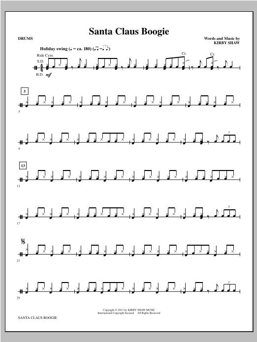Santa Claus Boogie - Drums Sheet Music