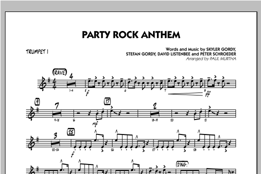 Party Rock Anthem - Trumpet 1 Sheet Music