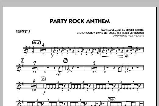Party Rock Anthem - Trumpet 3 Sheet Music
