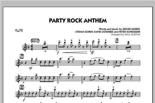 Party Rock Anthem - Flute Sheet Music