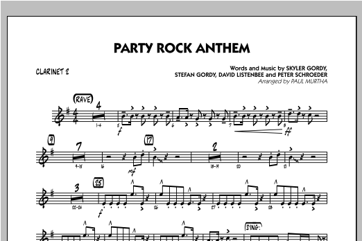 Party Rock Anthem - Bb Clarinet 2 Sheet Music