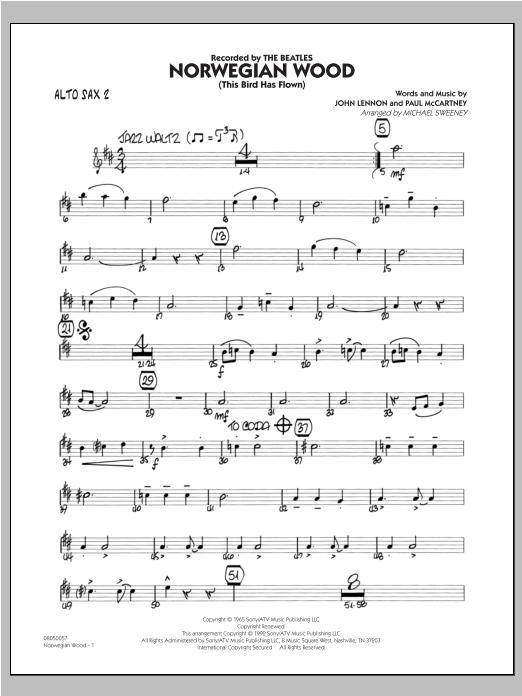 Norwegian Wood (This Bird Has Flown) - Alto Sax 2 (Jazz Ensemble)
