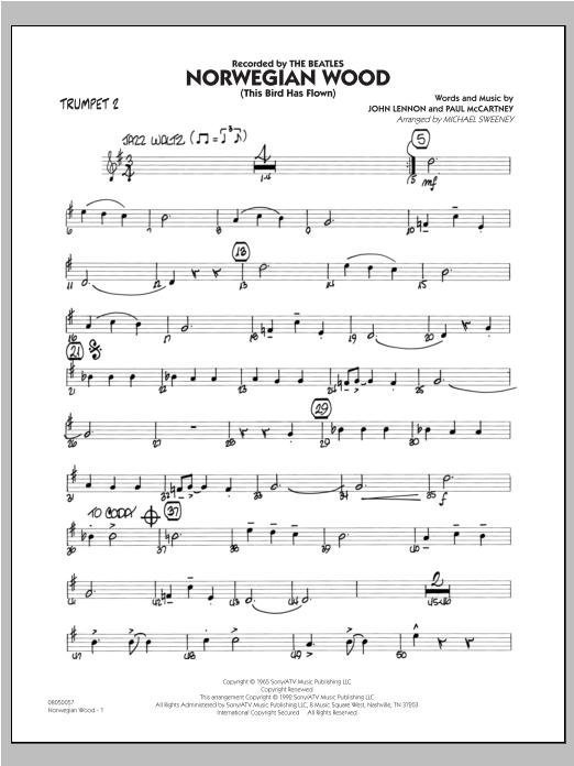 Norwegian Wood (This Bird Has Flown) - Trumpet 2 Sheet Music
