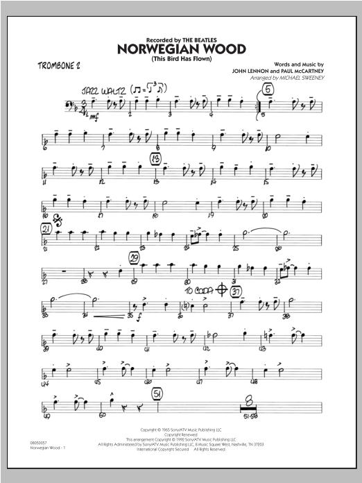 Norwegian Wood (This Bird Has Flown) - Trombone 2 Sheet Music