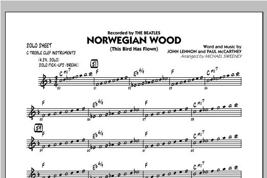 Norwegian Wood (This Bird Has Flown) - C Solo Sheet Sheet Music