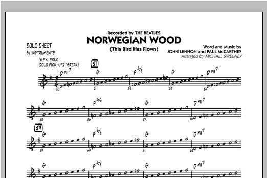 Norwegian Wood (This Bird Has Flown) - Bb Solo Sheet Sheet Music