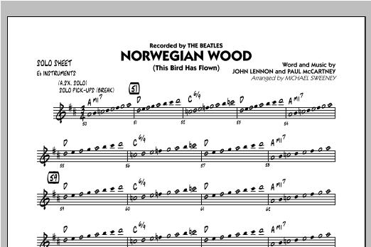 Norwegian Wood (This Bird Has Flown) - Eb Solo Sheet Sheet Music