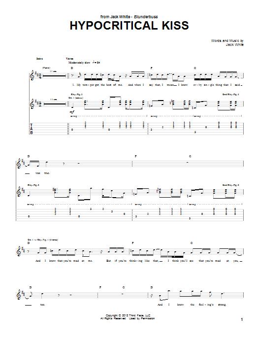 Hypocritical Kiss (Guitar Tab)